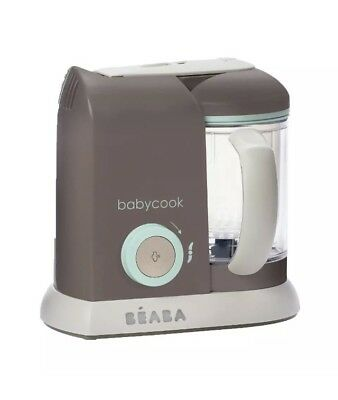 Beaba Babycook Pro Baby Food Maker and Steamer - Latte/Mint NEW