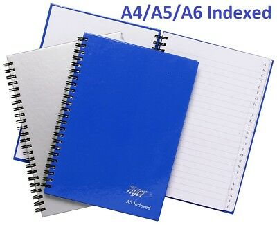 Twinwire A-Z Indexed Notebook Ruled Hardback Address/Office/Telephone Index New