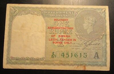 Government Of India  1940 One Rupee King George