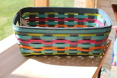 Longaberger 2017 Summer Weave Small Stow Away Basket WITH Protector NIH