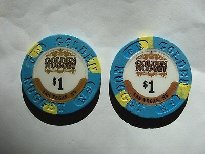 """TWO    $1 GOLDEN NUGGET  """"  FREE S&H  """"  Las Vegas, Nevada"""