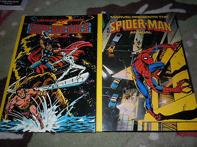 Lot of Two:  Marvel presents The Spiderman & Superheroes Annuals  (HC 1979  UK)