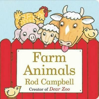NEW Farm Animals By Rod Campbell Board Book Free Shipping