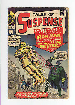TALES OF SUSPENSE #47 - GD 2.0 GRADE - EARLY IRON MAN: 1st MELTER 1963