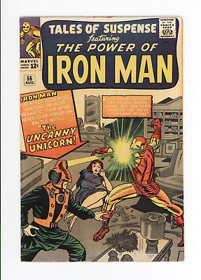 TALES OF SUSPENSE #56 - NICE GRADE - EARLY IRON MAN: 1st UNICORN 1964