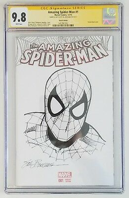 Sal Buscema Sketch Spiderman Blank Cover Original Art & Signed. Cgc 9.8 Ss