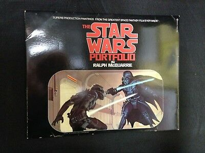 Star Wars Portfolio by Ralph McQuarrie Painting Prints Ballantine New Hope 1977