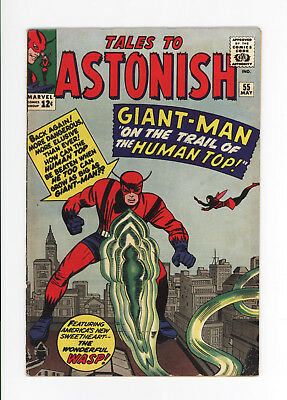 Tales To Astonish #55 - Giant-Man, Wasp, Tales Of The Watcher - Nice Grade  1964