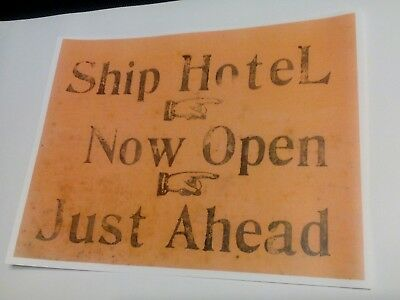 "Grand View Point Ship Hotel ""Now Open"" Lincoln Highway PA. Advertising Print"