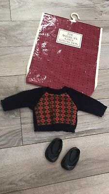 AMERICAN GIRL Molly's Argyle Sweater From Meet Outfit With Shoes