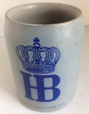 Hofbrauhaus HB Stein Glazed Stoneware Beer Mug German 1/2 liter NEW & UNUSED