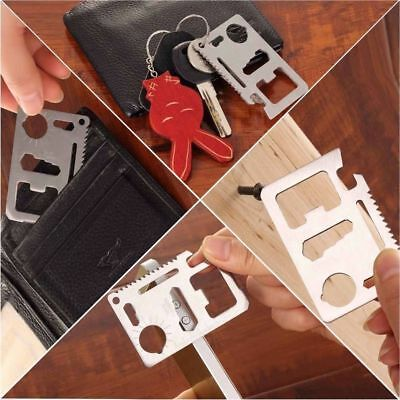 5 x Multi Function 11 in 1 Portable Outdoor Saber Card