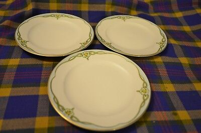 Lot of 3 MEITO China Hand Painted VENDOME Dessert Plates-Japan