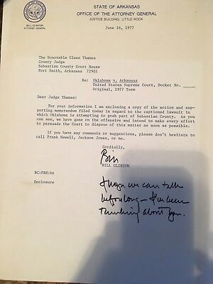 bill clinton signed Letters (4 letters)