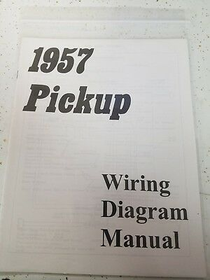 new 1957 chevy truck wiring diagram manual *free shipping*