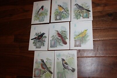 8 Vtg Singer Sewing Machine American Song Birds Trade Cards/Advertising