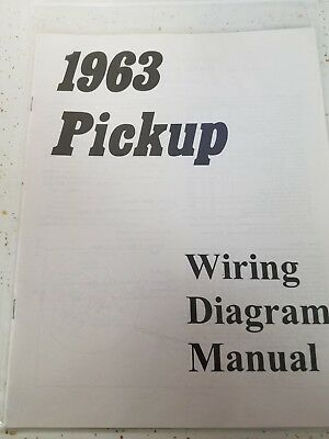 new 1963 chevy truck wiring diagram manual *free shipping*