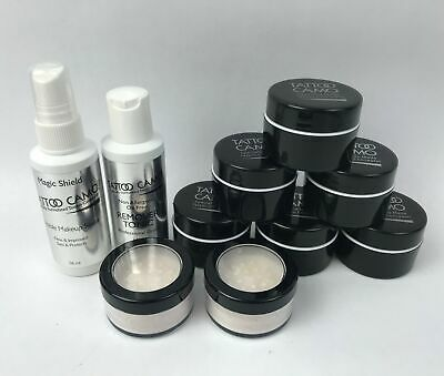 (Set of 10) Tattoo Camo Professional Makeup Artist Kit - Tattoo Covering Make Up