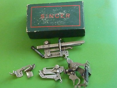 Vintage Singer Sewing Machine Attachments 36594, 36583 , 35931, 1261 &  Box  J6