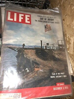 LIFE Magazine December 3 1956 Pearl Harbor Day of Infamy Vintage Car & Toy Ads
