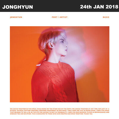 ▶◀SHINEE JONGHYUN POET ARIST Posthumous work Album CD+Poster+Booklet+Etc KPOP