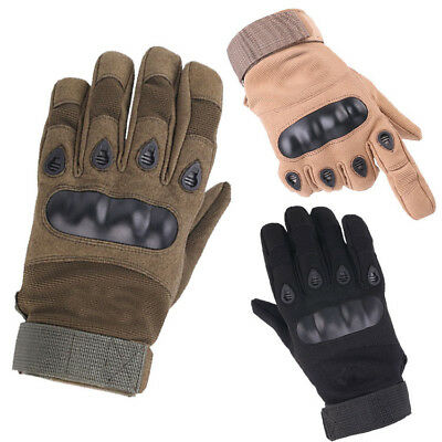 Men's Tactical Hard Knuckle Motorbike Motorcycle Gloves Knuckle Shell Protection