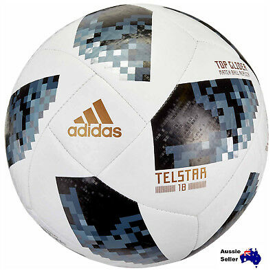 New Adidas World Cup Glide Ball 2018 Russia Telstar 18 Silver Soccer CE8096