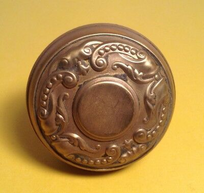 Fancy Antique Brass Embossed Door Knob Victorian Design Nice