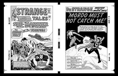 Jack Kirby Steve Ditko Strange Tales #125 Cover And Pg 1 Large Production Art