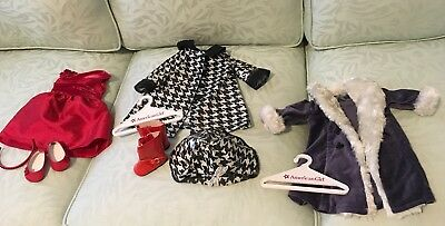 AMERICAN GIRL DOLL Clothes & Accessories; Lot Of 7 Pieces; Complete Outfits