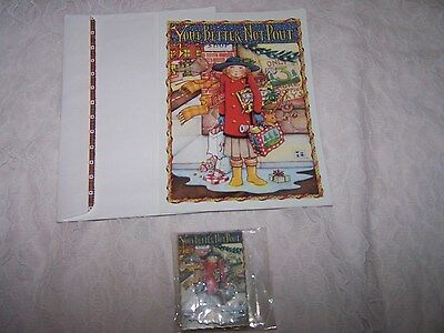 Vintage 1986 Mary Engelbreit YOU BETTER NOT POUT Unused CHRISTMAS CARD, Ornament