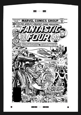 Jack Kirby Fantastic Four #175 Rare Large Production Art Cover