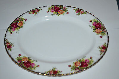Royal Albert, Old Country Roses, Bone China, 13 1/2 Inch Serving Plate, Platter