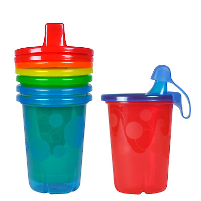 4 Pcs Toddler Sippy Cup Spill-Proof Plastic Cups Tumbler With Lids Baby Kids