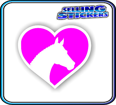 Horse Lovers Sticker Window Float Custom Decal Saddle Riding Equestrian Pink