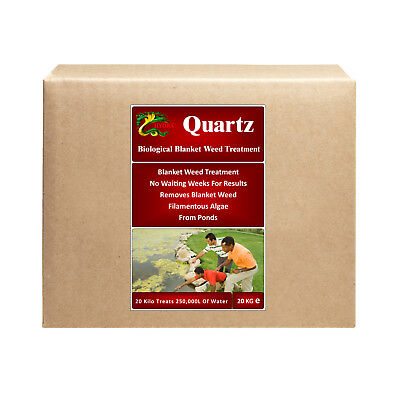 100% Biological Blanket Weed Treatment HYDRA QUARTZ 20Kg Treats Up To 250,000L