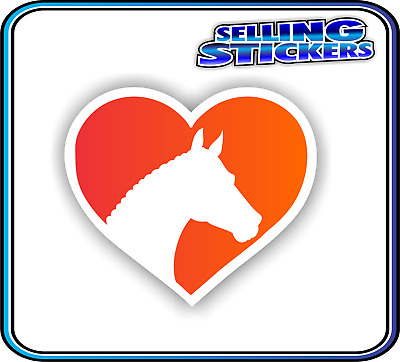 Horse Lovers Sticker Window Float Custom Decal Saddle Riding Equestrian Red Ora