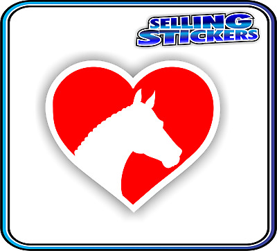 Horse Lovers Sticker Window Float Custom Decal Saddle Riding Equestrian Red