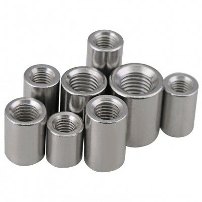 G304 Stainless Steel Threaded Rod Round Coupling Nut For Allthread Bar Stud