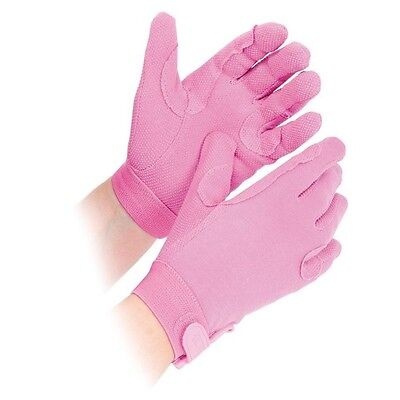 SHIRES NEWBURY gloves ADULTS PINK 880 horse rider grip gloves cotton XS - XL