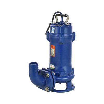 Sump Pump 1.5HP Industrial Sewage Cutter Grinder Cast iron Submersible  44GPM
