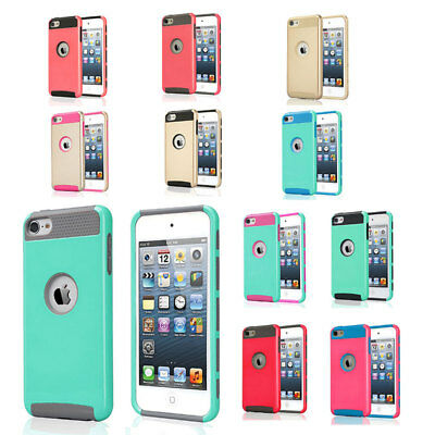 Hybrid Hard Shockproof 3 in 1 TPU Case Cover For Apple iPod Touch 5th Generation