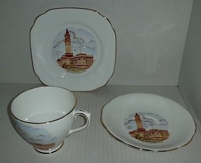 1940s Brisbane City Hall Royal Standard trio cup saucer side plate souvenir ware