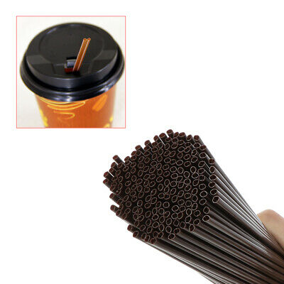 180X Disposable Plastic Stirrer Straws For Drinking Coffee Beverage Cocktail Bar