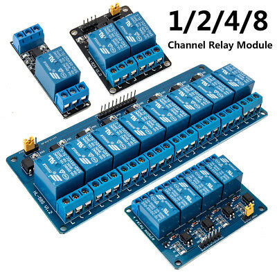 5V 12V Relay Board Module Active Low - 1, 2, 4, 8 Channel