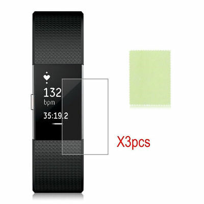 3pcs HD Clear Screen Protector Film Full Cover Guard Shield for Fitbit Charge 2