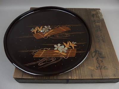 Japanese Antique Old Yoshinaga 6 Year Maki Maki Maru Tray From Japan EMS F/S
