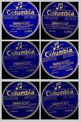 ROYAL PHILHARM. ORCH. & WEINGARTNER Beethoven: Symphony No. 8 in F  78rpm  GS647
