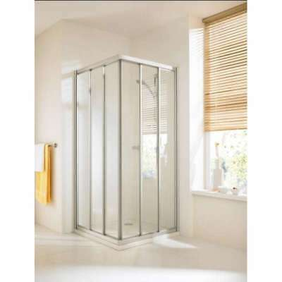 Huppe Corner Entry Square Sliding Shower Enclosure Door 900 X 900 1900 Height