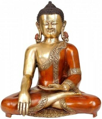 """Long Earlobes Earth Touching Buddha Indoor Outdoor Décor For Sale 14"""""""